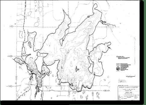 leech Lake Depth Map